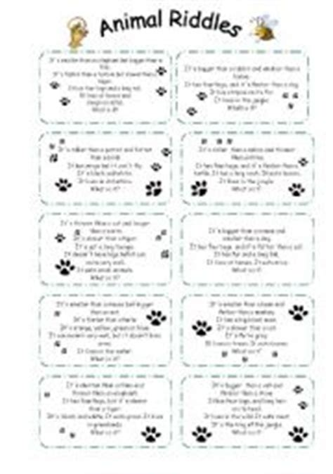 free printable animal riddles english worksheets animal riddles