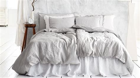 grey linen bedding light gray bedding gray pinterest white apartment bed linens and gray bed