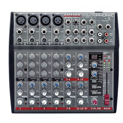 Mixer Audio Phonic phonic 4 mic line 4 stereo compact mixer with dfx and bluetooth music123