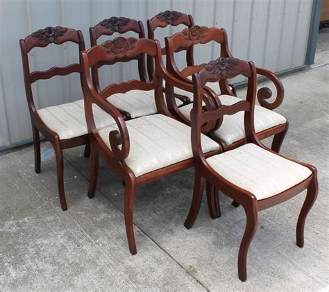 duncan phyfe dining chairs 6 willet roseback solid cherry empire duncan phyfe dining