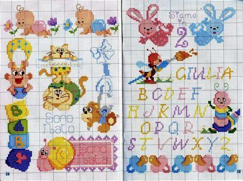 punto croce lettere per bambini ricami e schemi a punto croce gratuiti punto croce per