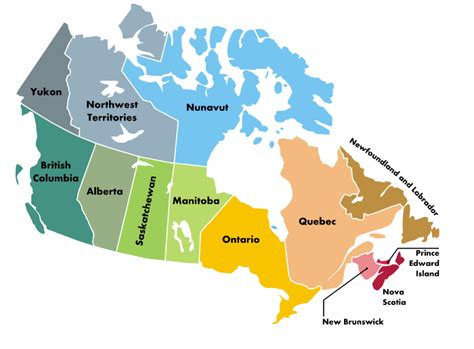 canada map with names canada map names
