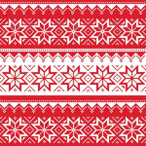 nordic christmas pattern vector nordic seamless christmas red pattern by redkoala