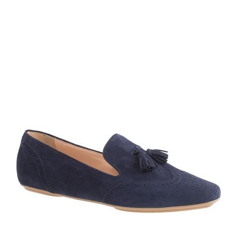 blue suede tassel loafer j crew georgie suede tassel loafers in blue authentic