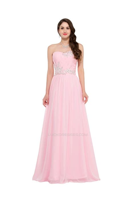 sweetheart beaded prom dress a line sweetheart beaded pink chiffon prom evening