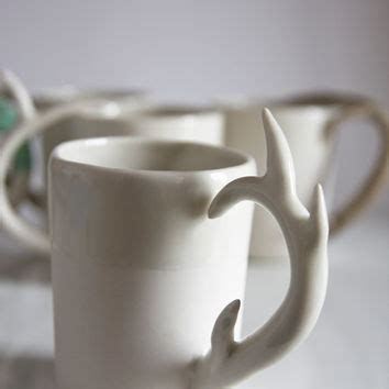 cool coffee mugs for guys unique coffee mug for him for men deer from karoart on etsy
