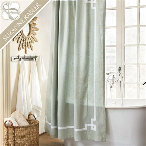 greek key shower curtain suzanne kasler greek key shower curtain modern shower