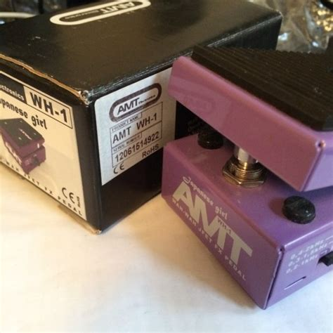 Amt Electronics Wh 1 Optical Wah Wah Pedal amt wh 1 japanese wah wah pedal reverb
