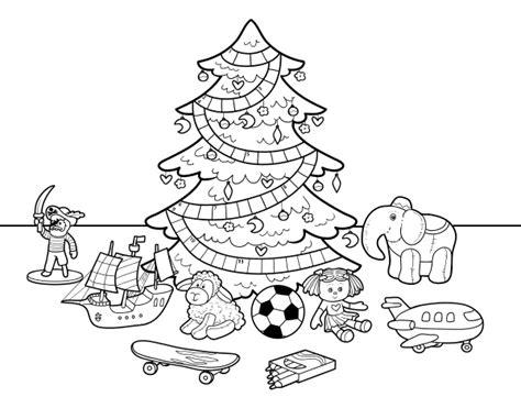 dibujo de 193 rbol de navidad y juguetes para colorear