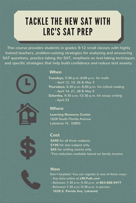 sat test prep prep for the new sat with lrc learning resource center