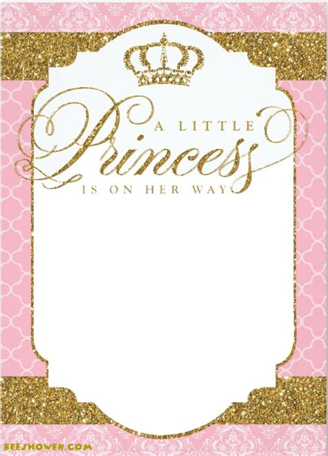 princess themed invitation template free printable princess baby shower invitations free