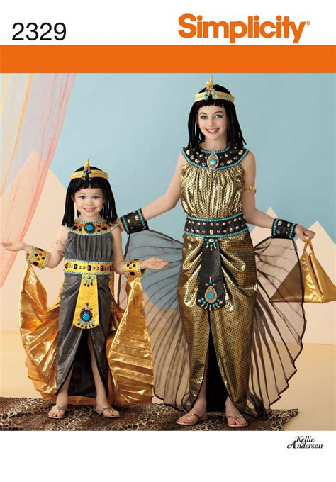 Gamis Cleopatra Embroidery Simplicity 2329 Child S Costumes