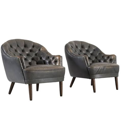 green club chair set of two club chairs in patinated green leather for