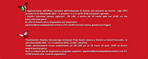consolato polacco roma consolato onorario della repubblica di polonia in ancona