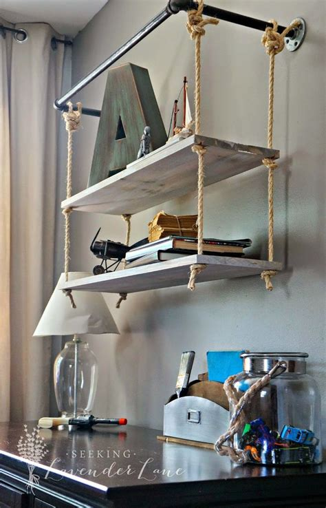 ways to decorate with hanging shelves