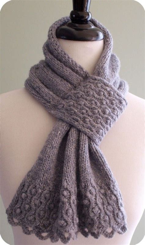 knit scarves patterns drifted pearls scarf knitting pattern pdf from etsy shop