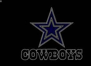 dallas cowboys inspired fan art logo by rhinestonestransfers