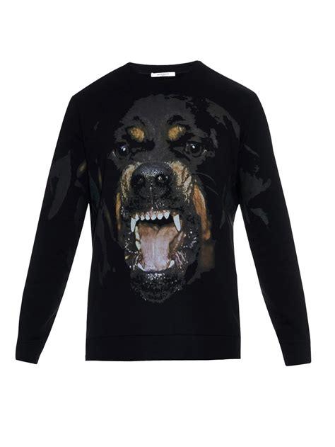 rottweiler sweatshirt givenchy cuban fit rottweiler print sweatshirt in black
