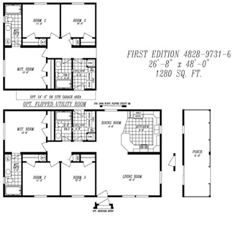 28x48 floor plans overview heritage home center manufactured homes