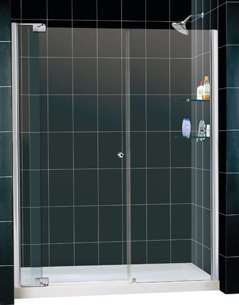 Frameless Shower Door Threshold Frameless Pivot Shower Door And Slimline Single Threshold Shower Base Modern Showers
