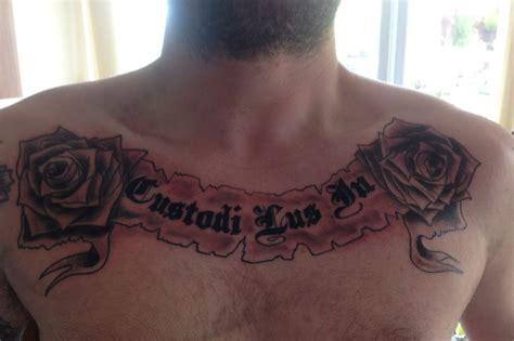 latin tattoo on chest football tattoos more of your aston villa birmingham