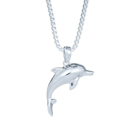 Dolphin Necklace small dolphin necklace landing company