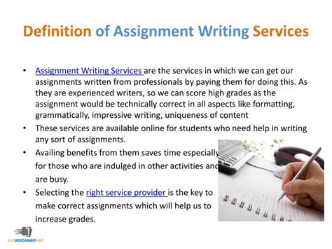 Definition Essay Assignment by Ppt 8 Questions To Ask Your Assignment Help Service Provider Powerpoint Presentation Id 7402930