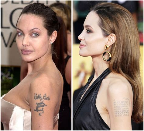 angelina jolie new tattoo s tattoos did you she has one for
