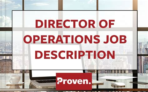 operations director description the director of operations description