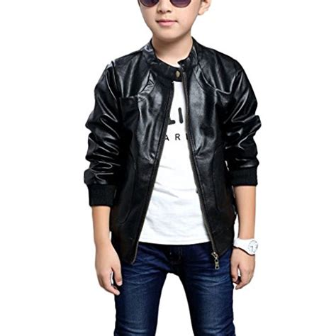 7 Jackets For Your Boy by Chinaface Boy S Trendy Stand Collar Pu Leather Moto