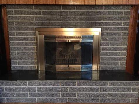 brass fireplace insert city