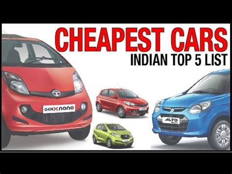 top  cheapest cars  india    cost cars  india youtube