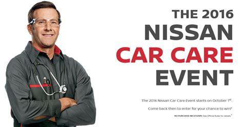 Cer Sweepstakes 2016 - carcareevent nissanusa com nissan car care event sweepstakes 2016
