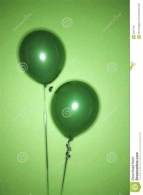 green balloons stock photo image  studio
