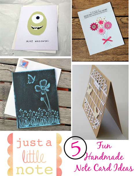 Handmade Note Cards - let s write a note challenge week two