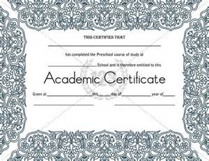 Academic Certificate Templates Free by Most Worthy Academic Certificate Templates