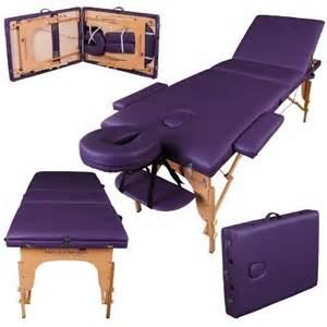 lightweight massage couch massage imperial lightweight professional purple 3 section