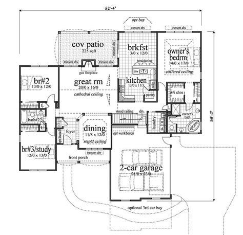 2000 square foot house plans 2000 square feet 3 bedrooms 2 batrooms 2 parking space