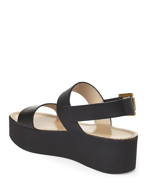 black sandals lyst gabriella black platform sandals in black