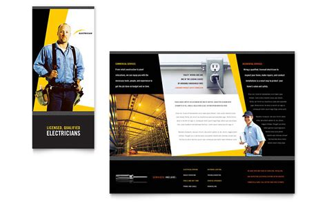 Brochure Templates Electrical | electrician brochure template word publisher