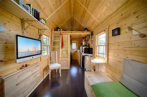 interiors of tiny homes live a big life in a tiny house on wheels