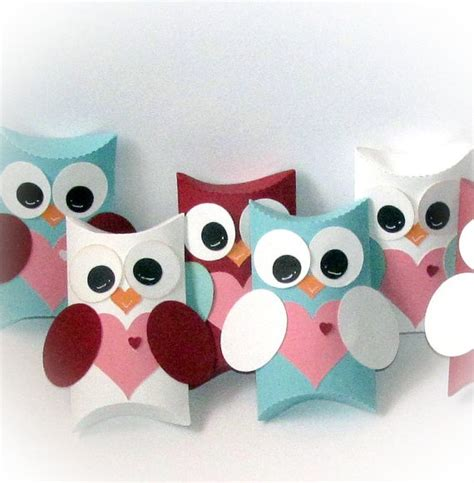 owl pillow box template owl you forever pillow gift treat boxes