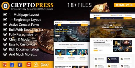 Crypto Press Theme Nulled Download Nulled Rip Cryptocurrency Html Template Free