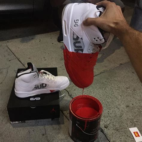 here s what a supreme air 5 looks like dipped in