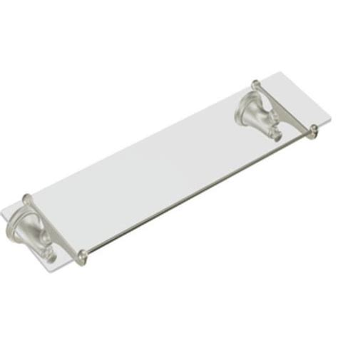 Moen Yb9490bn Showhouse Savvy Glass Bathroom Shelf Brushed Bathroom Glass Shelves Brushed Nickel