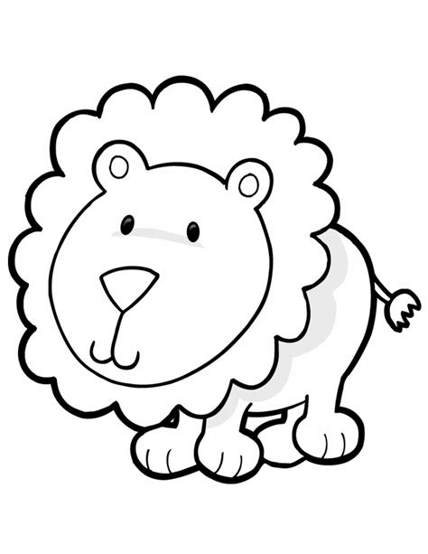 cartoon lion pictures kids kids coloring