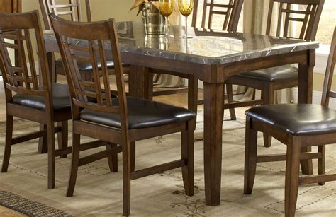 hamlyn dining room set hamlyn 5 piece marble top 44x44 round dining room set on