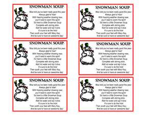 Soup printable tags snowman soup printable tags amp snowman soup poem