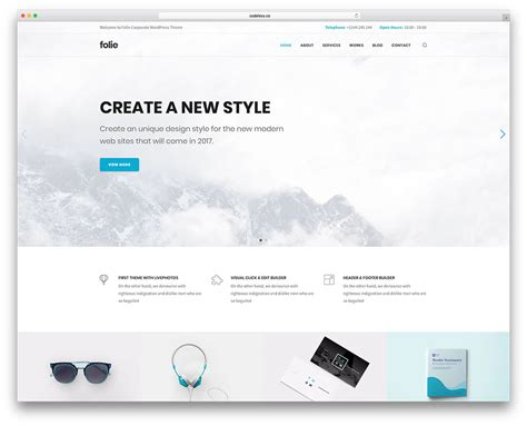 50 Best Minimalist Wordpress Themes For Creatives 2019 Colorlib Minimalist Web Templates