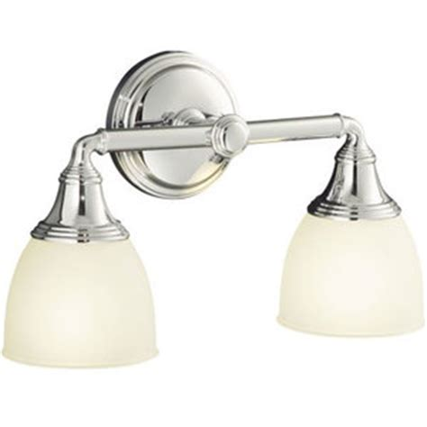 Kohler Devonshire Bathroom Lighting K10571 Cp Devonshire 2 Bulb Bathroom Lighting Polished Chrome At Fergusonshowrooms